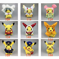 anime real dolls - Poke Pikachu Cartoon Cosplay Christmas Costumes Doll Anime Uniform Soft Plush Kids Baby Toy Gift Doll Real Doll Aduit Doll