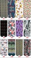 barrel sock - Unisex D Socks long barrel socks Men Women harajuku Hip Hop Sports Skateboard gun emoji tiger skull socks Designs OOA176