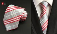 Wholesale New Silk Classic Stripes Mix Color JACQUARD WOVEN Silk Men s Tie Necktie T4