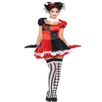 adult jester costumes - Make Your Smile Carnival Halloween Party Adult Sexy Womens Clown Costume Sexy Circus Outift Cirque Clown Jester Costume L1360