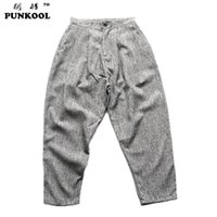 big high current - PUNKOOL Hot Sale Male Big Trousers Tidal Current Male Pants Hiphop Low rise Pants High Quality Casual Pants Harem Pants Men