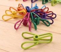 Wholesale Colorful Metal Binder Clips Paper Clip Bag Clip Hanger Sealer Color Random cm