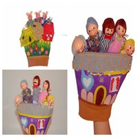 Wholesale animal finger puppet Glove Hand puppets Three Pig Soft Story Telling Finger Plush Toy Cartoon finger doll hand puppet design KKA564