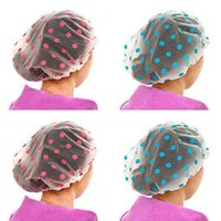 Wholesale Fashion Thick Waterproof Shower Cap Bathing Cap Care Cosmetic Bath Kitchen Anti smoke Hat