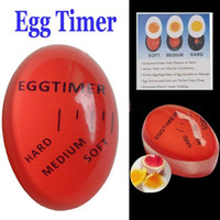 Wholesale New Arrival Creative Kitchen Assistant Boiled Eggs Raw and Cooked Egg Timer Observer Creative Egg timer