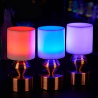 bar counter table - Simple bar bar counter creative LED lamps and lanterns of seven color optional charging with the charger table lamp