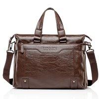 Wholesale 2016 New Fashion Men Briefcases Bag With Shoulder Stripe Hands Line Business handbag Messenger computer bag Elegant Classic Pad Book Bag