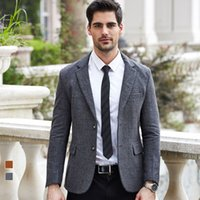 Wholesale Retro gentleman Wool Blazers Suits For Men Slim Fit Single Breasted Party Business Casual Coat Costume Homme Masculine Blazers Suit Jackets