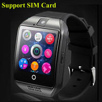 Wholesale 2016 NFC Smart watch Q18 HD inch Touch Screen Camera smartwatch support SIM TF Card for IOS and Android HTC phone VS APRO Q18S OTH289