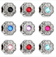 big auger - 50pcs Tibetan silver Pandora Silver Handmade big Hole Loose Beads Set auger Fit European Charms Bracelets Loose Beads Jewelry DIY