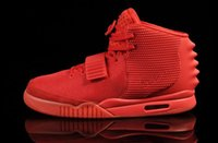 Wholesale Factory Outlets Kanye West shoes Red October Black Solar Red Men Athletic Basketball Shoes With Dust Bags Original Box