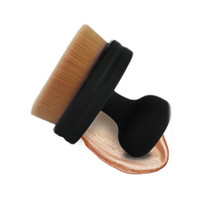 badger hair makeup brushes - New Arrival O Circle Oval Brush Style Foundation Makeup Air Brush Loose powder Synthetic Hair Brush Big One