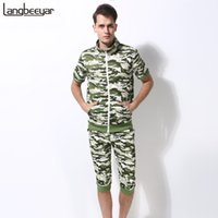 Wholesale 2016 New Summer Fashion Mens T Shirts Sport Camouflage Short Sleeve T Shirt Set Mens Clothing High quality Casual T Shirt XL