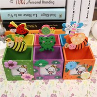 Wholesale Auto pencil case student pencil box ideas tin box two layers of pen boxes For Children Girls Boys