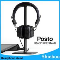 Wholesale New best headphone stand Universal Base Headphone Stand Headphone Display Rack Headset Hanger Earphone Holder