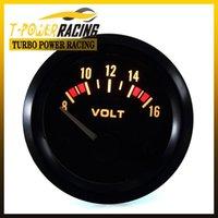 Wholesale 2 quot mm Universal V Volts meter volt gauge auto meter auto gauge tachometer car meter Racing meter