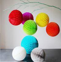 ballon craft - 10Pcs inch CM Decorative Flowers Paper Lantern Honeycomb Balls For Wedding Birthday Party Home Decoration gift craft DIY
