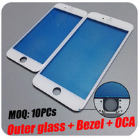 Wholesale Flexiable MOQ DHL For Apple iPhone S Plus Screen LCD Bezel Frame With OCA Outer LCD Front Glass Lens