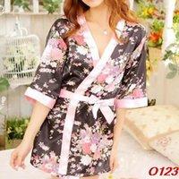 Wholesale Sexy Womens Sleepwear Robe Japanese Kimono Costume Nightgown Uniform O123