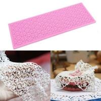 Wholesale Lace Silicone Mold Mould Sugar Craft Fondant Mat Cake Decorating Baking Tool H210328