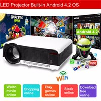 Wholesale LED86 Android Projector Lumens WiFi Smart P Contrast Full HD LCD Home Theater TV LED Projector Projektor