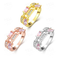 art channel - Hot Sale New style art geometric lady ring inlaid zircon colors Gemstone Jewelry Wedding Ring for lovers