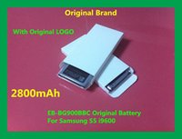 Wholesale 5PCS Cell Phone Battery EB BG900BBC mAh Replacement Battery For Samsung GALAXY S5 i9600 G900S G900F G9008V v W
