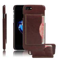 baja dirt - Retro Grease baja mengkilap kasus untuk iphone7 inch kulit Fashion kembali tutup dengan Slot kartu Accessorie ponsel untuk iPhon