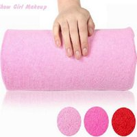 Wholesale Hot Sell New Soft Nail Art Small Hand Pillow Cushion Salon Tools Pink Rose Red Manicure Cushion Hand Rest Arm Pillow