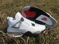 Wholesale Air Jordan Retro White Cement Men Jordans s Basketball Shoes Men s Sport Basketball Shoes Sneakers Top Retro IV Size US
