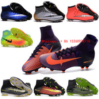 Wholesale 2017 New youth mercurial soccer cleats magista obra fg soccer shoes boys kids football boots CR7 mercurial superfly Cleats soccer boot mens