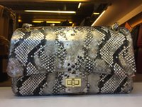 bamboo pattern fabric - 1112 Bag CM Women Quilted Caviar chain Bag Snake pattern Bag Chain Bag Flap Bag