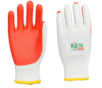 Wholesale Protective gloves Wear resistant Rubber Non slip Polyester cotton Seamless Industrial st001