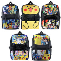 Wholesale 2016 Hot poke go pikachu Printing Backpack Poke go pikachu Backpacks poket monster Backpack School Bags Backpack I201672114