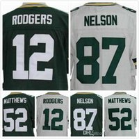 aaron football - Mens Aaron Rodgers Jersey Clay Matthews Jersey Jordy Nelson Jersey Green White Stitched Size S XL