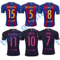 Wholesale 2016 Top Thailand Quality Barcelona Soccer Jersey Home Away MESSI ARDA A INIESTA SUAREZ SERGIO PIQUE I RAKITIC Soccer Jerseys