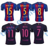 barcelona home - 2016 Top Thailand Quality Barcelona Soccer Jersey Home Away MESSI ARDA A INIESTA SUAREZ SERGIO PIQUE I RAKITIC Soccer Jerseys