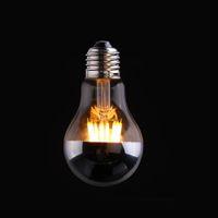 base bulb - Sliver Mirror W Edison A19 Globe Lamp LED Filament Light Bulb Warm White K E26 E27 Base Dimmable