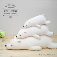 big polar bears - Two kinds of color three dimension Japan LIV HEART polar bear plush toys large sized long pillow doll doll girl a gift
