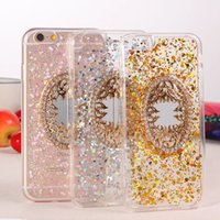 Wholesale New Arrival Ultra Soft TPU Golden Bling Shinning inch Phone Case With Special Magic Mirror Features Hotsale