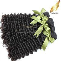 Wholesale Mlaysian Deep Wave Cheap Human Hair Weave Bundles Inch Grade A Natural Color Bellahair
