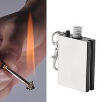 Wholesale Emergency Fire Starter Flint Match Lighter Metal Outdoor Camping Hiking Instant Survival Tool Safety Durable hot H210543