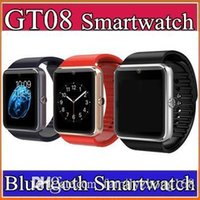 apple watchs - 20X GT08 Bluetooth SmartWatch with SIM Card Slot and NFC Health Watchs for Android Samsung and IOS Apple iphone Smartphone Bracelet C BS
