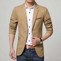 Wholesale men s Fashion good quality slim fit casual blazer suit men Korean slim Two button single breasted blazer SIZE XL US L