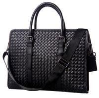Wholesale new men official work bag business bag casual laptop briefcase genuine leather handbag cowhide shoulder messenger bags