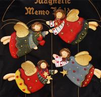 Wholesale Simulation Cartoon Little Angle Flying fridge magnet fridge Stickers Fridge decoration magnets Polyresin Toys