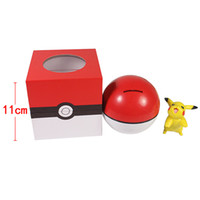 Wholesale 3pcs set Monster cute Pokeball action figure pen holder poke ball Fairy piggy bank PVC collection baby toy gift
