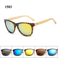 Wholesale 2016 Hot sale style sunglasses in Europe wooden sun glasses women men brand design eyewear with matel hinge
