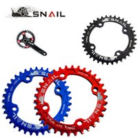 Wholesale SNAIL MTB Bicycle BCD T T T T Round Chainring Aluminium Narrow Wide Bike Circle Crankset Disc Chain Wheel Plate