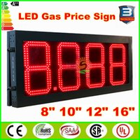 Wholesale High Bright Gas station led price sign inches digits fuel price sign red color